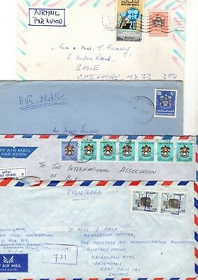 Middle East Various Air Mail Covers X17 From Collection Bx1/10