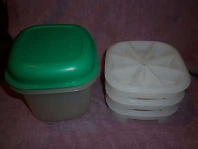 Vintage Collectable Tupperware Ice Trays & Bucket