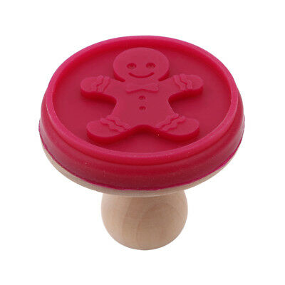 Cute Made Print Silicone Cookie Stamp Press Pastries Biscuit Cakes Seal Mode OE