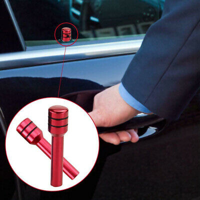 2x Aluminum Alloy Car Truck Interior Door Lock Knob Pull Pin Red Universal