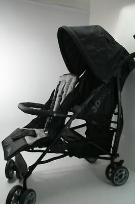 Summer Infant 3Dtwo Double Convenience Stroller Gray Squared 2 Position Recline