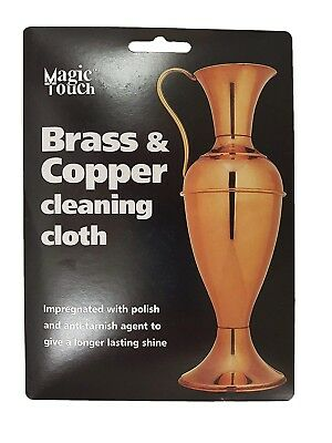 Brass & Copper Cleaning Cloth Specialist Impregnated Metal Polish Care Cloth