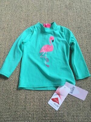 Sunsafe Swim Top Girls M And S 9-12 Months Bnwt