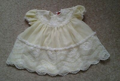 Babys Vintage Lemon Nylon Dress 60s 70s