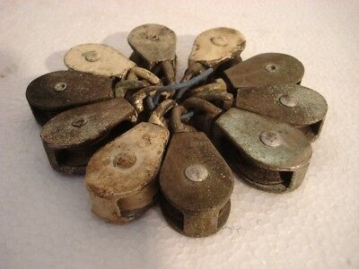 Lot of 10 pcs ANTIQUE Marine BRASS PULLEY - SHIP'S 100% ORIGINAL (628)
