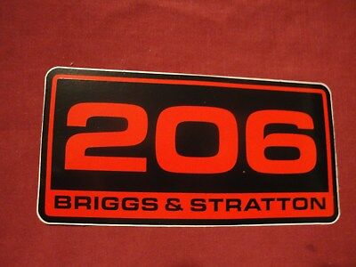 BRIGGS & STRATTON 206 racing sticker decal