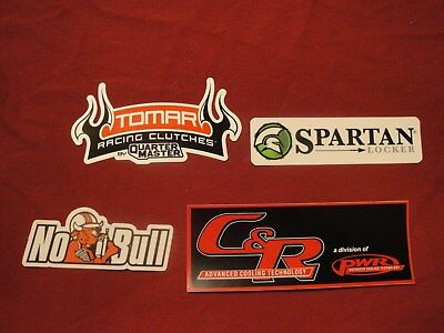 C & R, NO BULL, SPARTAN, TOMAR RACING CLUTCHES racing sticker decals