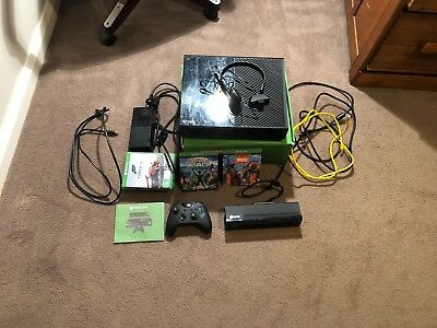 Microsoft Xbox One Black 500gb Console + 6 games + 1 controller and accessories