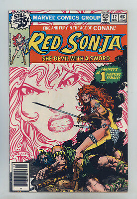 """Red Sonja #12 FNVF Brunner, Buscema, """"In the Age of Conan The Barbarian"""""""