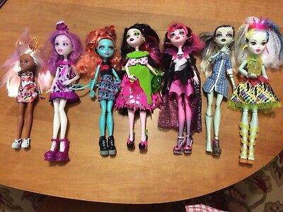 MONSTER HIGH AND EVER AFTER HIGH DOLL LOT OF 7 . 1 High Voltage electrified