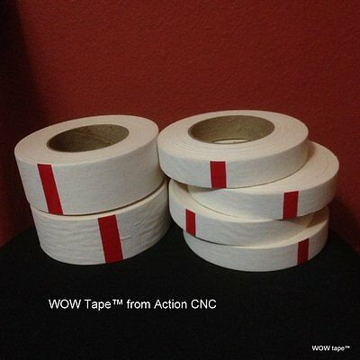 "Original WOW tape ™ cnc router Combo Pak  2 rolls 2"" wide plus 4 rolls 1"" wide A"