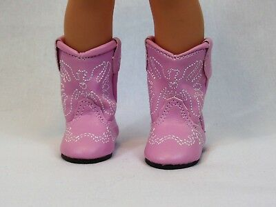 "Pink Western Cowgirl Boots Fits 14.5"" Wellie Wishers American Girl Clothes Shoes"