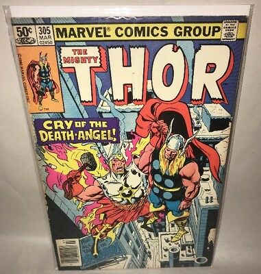 The Mighty Thor #305 Marvel Air-Walker App. March 1981 Bag & Boarded *Fast Ship*