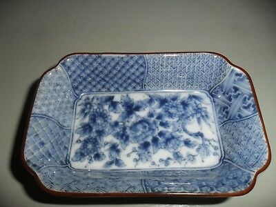 Lovely, Small Antique Blue & White Oriental Porcelain Dish/Tray. Very good cond.