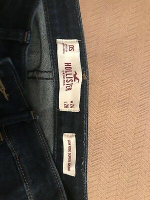 Hollister low rise super skinny jean size 0S