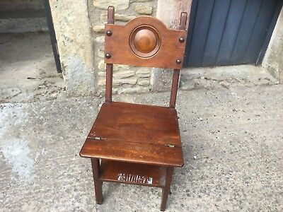 Antique Mahogany Metamorphic Chair/Library Steps