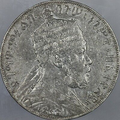Ethopia EE1889-A Large Silver 1 Birr