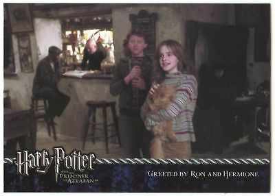 Greeted By Ron& Hermoine#14 Harry Potter & Prisoner Azkaban 2004 Tradecard-C1447