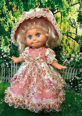 Vintage style dress for Galoob Baby Face doll