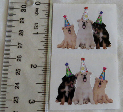 Mrs Grossman PARTY DOGS - Half Strip of Photoessence Stickers