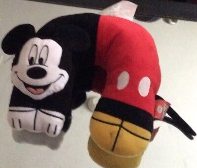 """Disney Mickey Mouse 3D  traveling neck pillow 12"""" Pre- owned"""