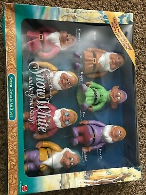 Mattel Walt Disney Snow White And The Seven Dwarfs Color Change Gift Set New