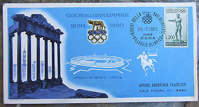 Roma 1960-Olympic Games-Commemorative Postcard-Horse Racing-Ippica