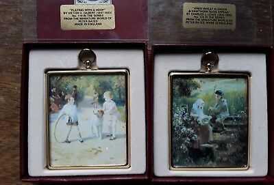 Miniature World of Peter Bates 2 x Wall Plaques.119 & 120 . Both Boxed