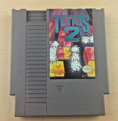 NES TETRIS 2 Nintendo Video Game Cartridge Only TESTED