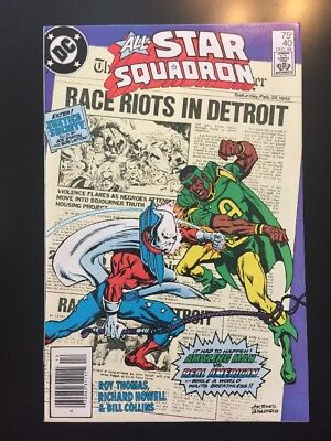 ALL-STAR SQUADRON #40 (DC Comics 1984) Death of REAL AMERICAN (FN/VF)