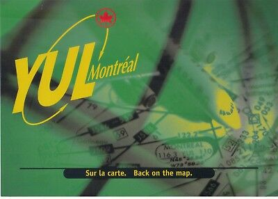 YUL Montreal airports consolidation Back on the map 5x7 POSTCARD Canada 1990's