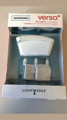 """LightWedge Verso"""" Rechargeable Arc Light for E-readers Free shipping"""