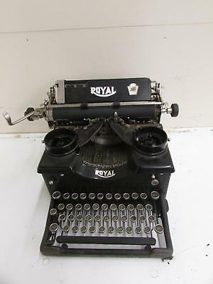 Vintage Royal Black Manual Typewriter Black Tested