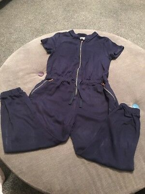 Used Girls Ted Baker Navy Jumpsuit Age 7-8 VGC