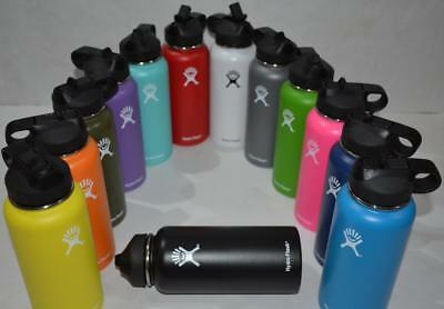 Hydro Flask Sports Water Bottle Insulated Stainless Steel Wide Mouth Straw Lid