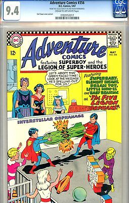 Adventure Comics #356 CGC GRADED 9.4 - third highest graded