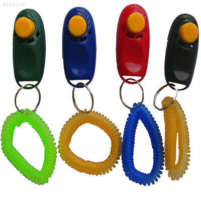 D29E Hot New Pet Dog Cat Training Trainer Clicker Wrist Strap Toy Randomly