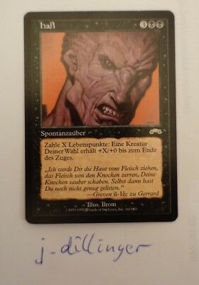 Haß Hatred Magic the Gathering Exodus near mint