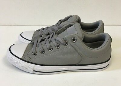 Converse Chuck Taylor All Star Ox Low Leather Shoes Sneakers- Gray- NEW