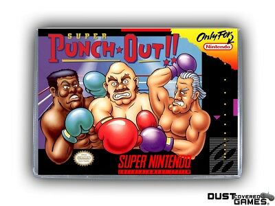 Super Punch Out SNES Super Nintendo Game Case Box Cover Brand New Pro Quality!!!