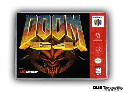 Doom 64 N64 Nintendo 64 Game Case Box Cover Brand New Professional Quality!!!