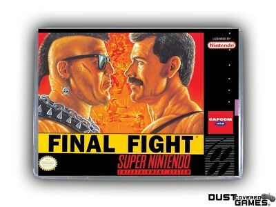 Final Fight SNES Super Nintendo Game Case Box Cover Brand New Pro Quality!!!