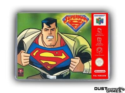 Superman 64 N64 Nintendo 64 Game Case Box Cover Brand New Professional Quality!!