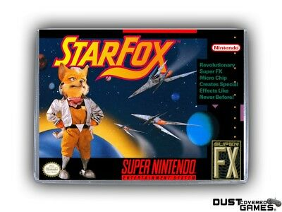 StarFox SNES Super Nintendo Game Case Box Cover Brand New Professional Quality!!