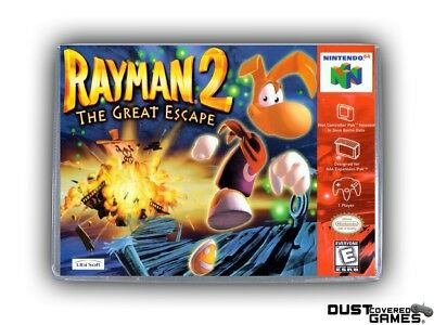 Rayman 2 N64 Nintendo 64 Game Case Box Cover Brand New Professional Quality!!!
