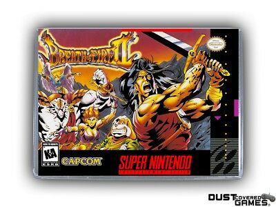 Breath of Fire II SNES Super Nintendo Game Case Box Cover Brand New Pro Quality!