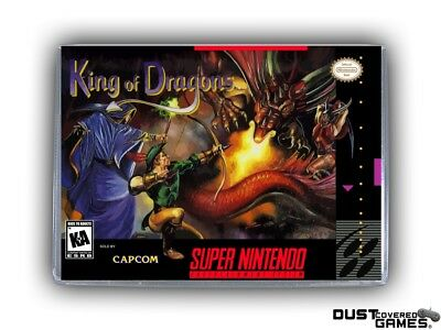 The King of Dragons SNES Super Nintendo Game Case Box Cover Brand New Quality!!!