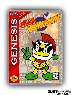 Mega Bomberman GEN Genesis Game Case Box Cover Brand New Professional Quality!!!