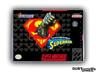 The Death and Return of Superman SNES Super Nintendo Game Case Box Cover New Pro