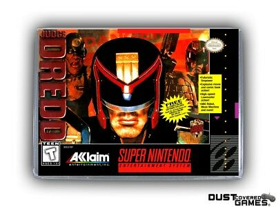 Judge Dredd SNES Super Nintendo Game Case Box Cover Brand New Pro Quality!!!